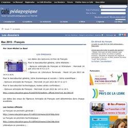 Bac 2013 : Français