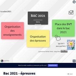 Bac 2021 - épreuves