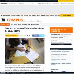 Bac : les coefficients des séries S, ES, L, STMG