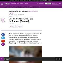 Bac de français 2017 (3) : Le Roman [Camus]