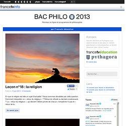 Bac philo 2013