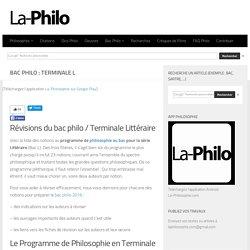 Bac Philo : Terminale l