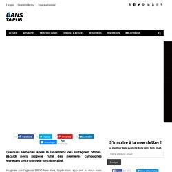 Bacardi propose à ses followers de mixer sur sa story Instagram - Dans Ta Pub
