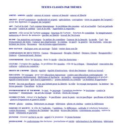 annales du baccalauréat en français - textes argumentatifs - thèmes
