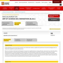 Baccalauréat en art et science de l'animation (B.A.V.)