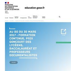 BO Circulaire du 28 mars 2017 : professeurs documentalistes