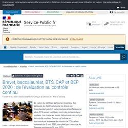 Diplômes -Brevet, baccalauréat, BTS, CAP et BEP 2020:de l'évaluation au contrôle continu