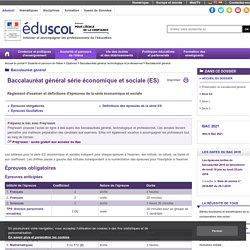 Baccalauréat général - Série ES