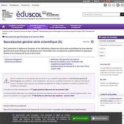 Baccalauréat général - Série S