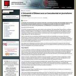 L'Université d'Ottawa aura un baccalauréat en journalisme numérique