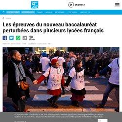 Les épreuves du nouveau baccalauréat perturbées dans plusieurs lycées français