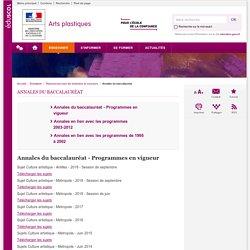 Annales du baccalauréat-Arts plastiques-Éduscol