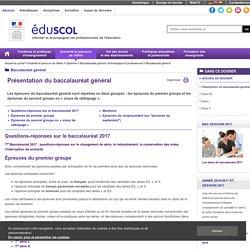 Baccalauréat général - Présentation du baccalauréat général