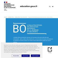BO : Programme de français en terminale bac pro