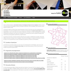 Baccalauréat technologique, sciences et technologies du design et des arts appliqués (STD2A)