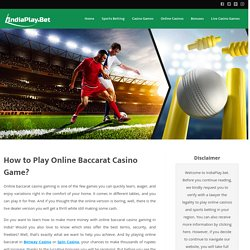 Play Free Baccarat Online Game Now