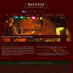 Bacchus Restaurant & Bar | Great Food & Drinks in New Paltz, NY