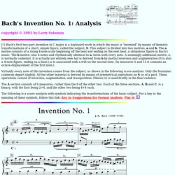 Bach's Invention No. 1: Analysis