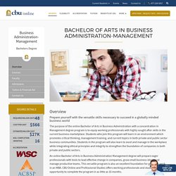 Bachelor of Arts in Business Administration Degree Online