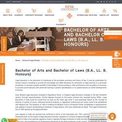 BA LLB: Bachelor of Arts and Bachelor of Laws (Hons.)