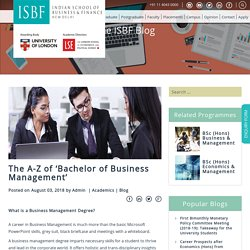 The A-Z of 'Bachelor of Business Management'