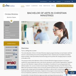 Bachelor of Arts in Christian Ministries Degree Online