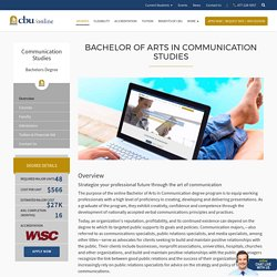 Bachelor of Arts in Communication Studies Degree Online