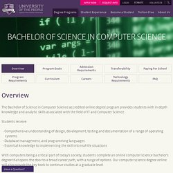 Bachelor of Science in Computer Science - UoPeople