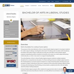 Bachelor of Arts in Liberal Studies Degree Online