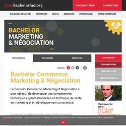 Bachelor Commerce, Marketing & Négociation - Ipac Bachelor Factory