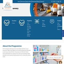 Admission Open B. Pharma Bachelor of Pharmacy - Usha Martin University