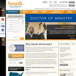 Bachelor's & Master's Accredited Degree Programs - South University
