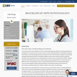 Bachelor of Arts in Psychology Degree Online