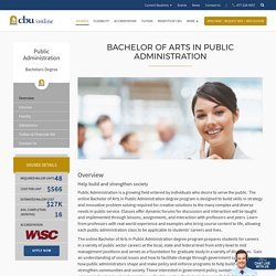 Earn Your Bachelors Degree in Public Administration