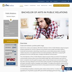 Start Your Career with Degree in Public Relations