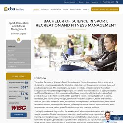 Bachelor of Science in Sport, Recreation and Fitness Management Degree Online