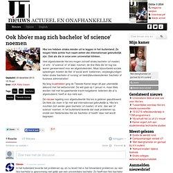 Ook hbo'er mag zich bachelor 'of science' noemen