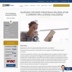 Bachelor of Science in Nursing Degree Online