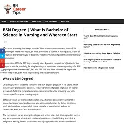 What is Bachelor of Science in Nursing and Where to Start - How To Become A Registered Nurse