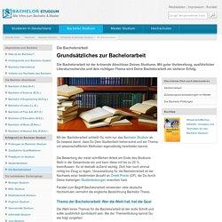 Bachelorarbeit: Tipps zu Themenfindung, formalen Vorgaben und Ablauf