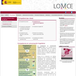 Competencia en comunicación lingüística. MECD