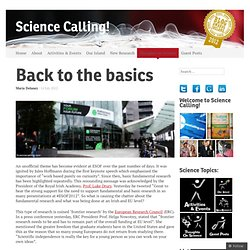 Back to the basics « Science Calling!