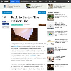 Back to Basics: The Tickler File