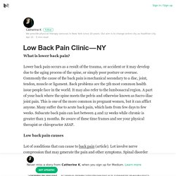 Low Back Pain Clinic — NY – Catherine K – Medium