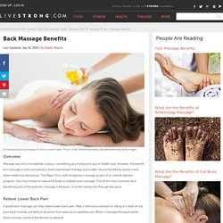 Back Massage Benefits