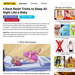 4 Back Relief Tricks to Sleep All Night Like a Baby