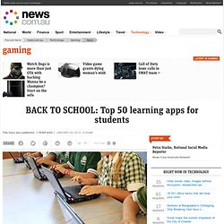 BACK TO SCHOOL: Top 50 learning apps for students