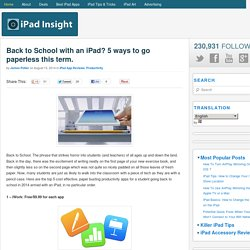 Back to School with an iPad? 5 ways to go paperless this term.