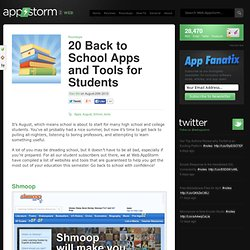 20 Back to School Apps and Tools for Students