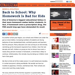 Back to School: Why Homework Is Bad for Kids